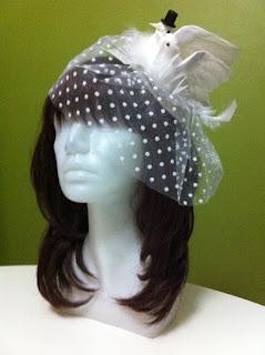 gelin şapkası nikah şapkası siyah beyaz