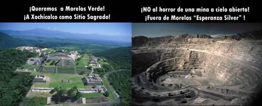 Resultado de imagen para minería a cielo abierto en Xochicalco