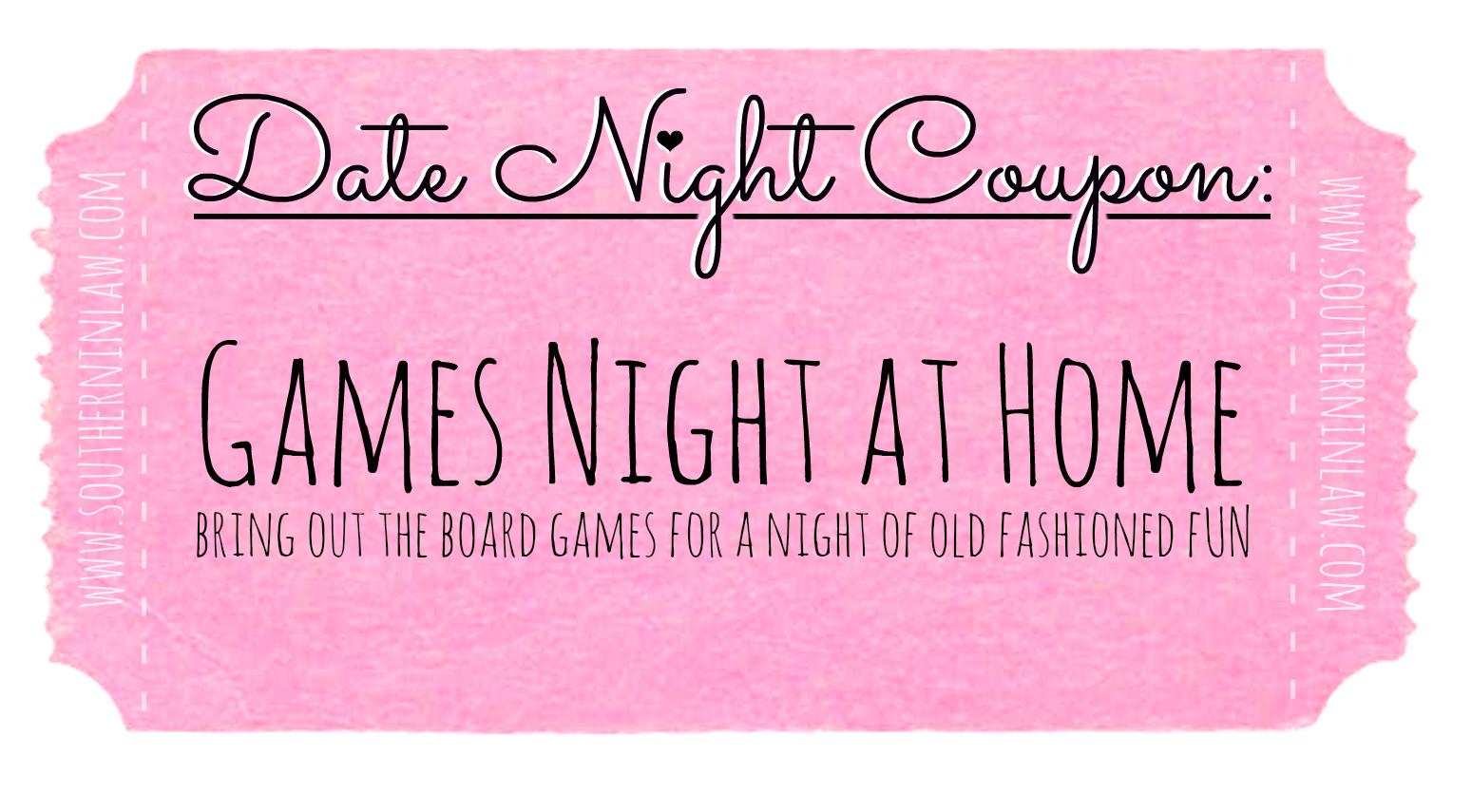 Cheap Date Night Ideas - Date Night Coupons - Have A Games Night at Home