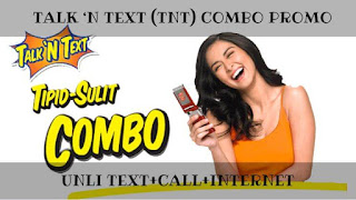 Talk 'n Text (TNT) Combo Promo Unli Text+Call+Internet Surf