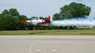 NX37642 North American Harvard IIA Smoke Flyby
