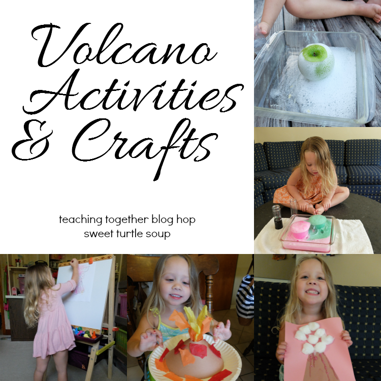 Sweet Turtle Soup: Teaching Together Blog Hop - Volcano Activities and Crafts for preschool kids