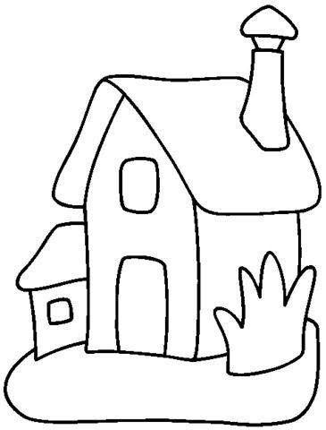Tranh tô màu ngôi nhà cho bé mầm non 1