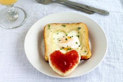 eggs in a basket bread