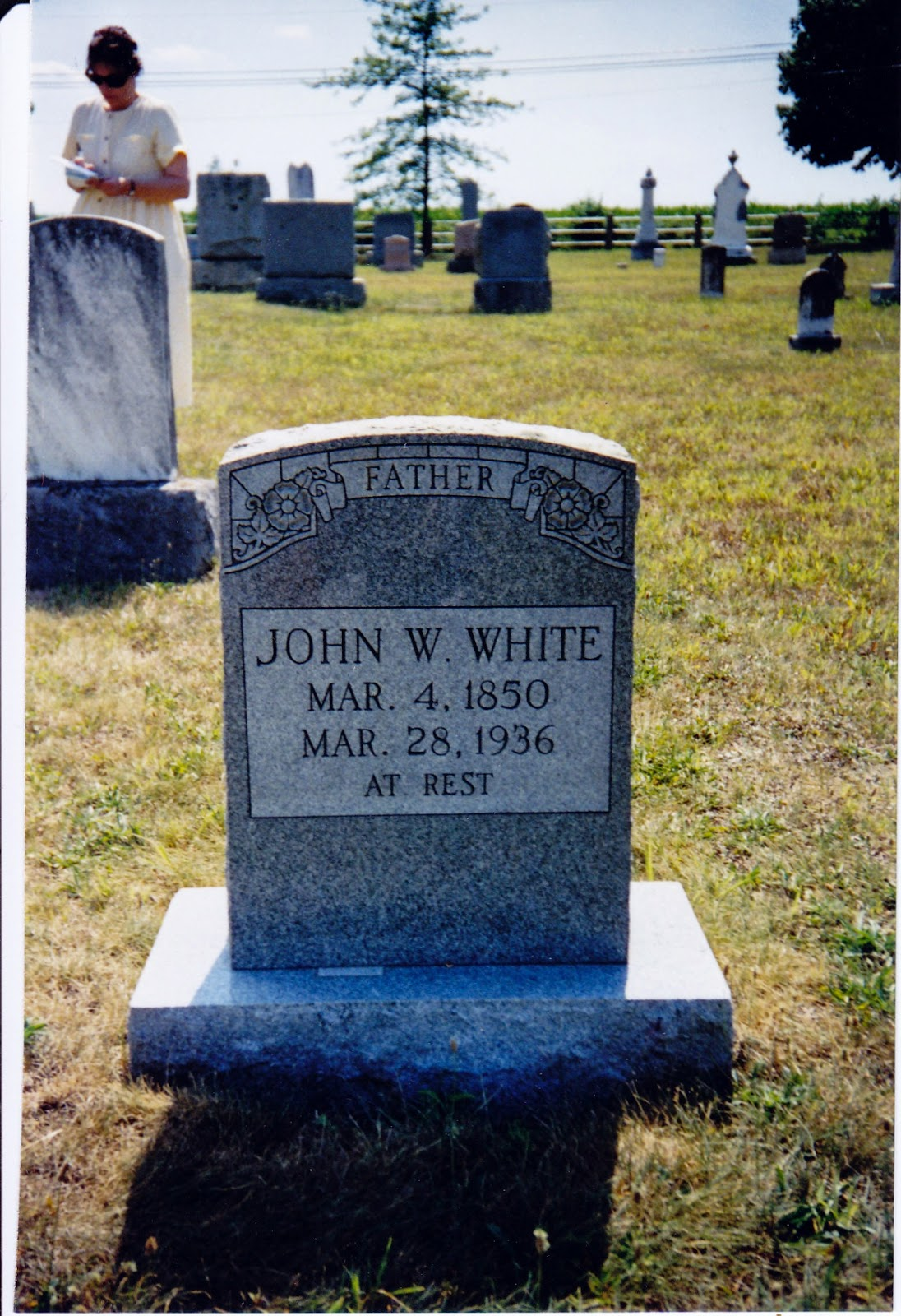 John W. White Tombstone, Bethlehem Lutheran Church Cemetery, Ladd., VA