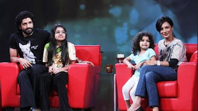 फरहान और अधुना अपनी बेटियों शाक्या आैर अकीरा के साथ