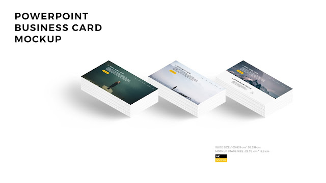 Free PowerPoint Layout Mockup with 3 Business Cards