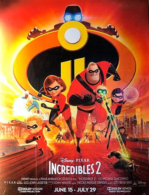 Cartel de la película de Pixar Animation Studios Los Increíbles 2