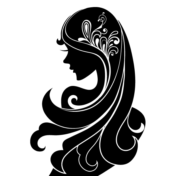 Cute Fantasy Girl Face Silhouettes Oh My Quinceaneras