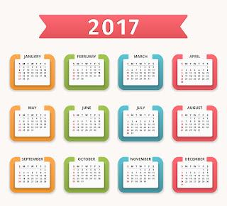 2017カレンダー無料テンプレート142