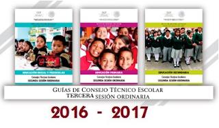 Guías de la Tercera Sesión Ordinaria de Consejo Técnico Escolar