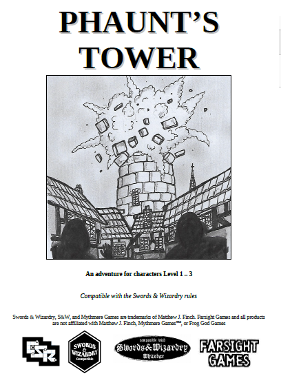 Phaunt's Tower available now! REDUCED TO $2.00!