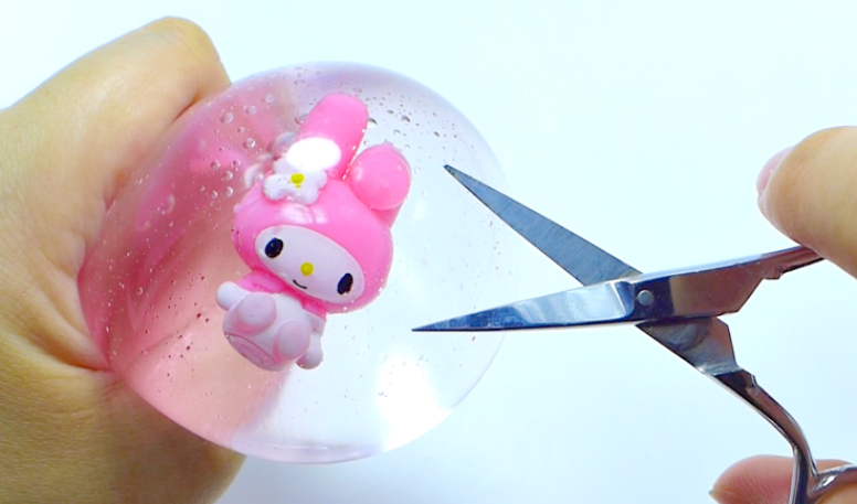 Squishy Toys Cutting : Sue s Cutie Closet : My Melody Water Pudding Squishy - Unboxing, Freezing & Cutting