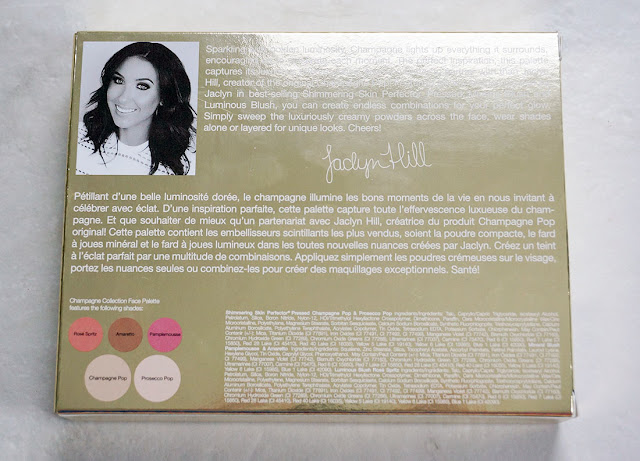 Champagne glow product description and packaging
