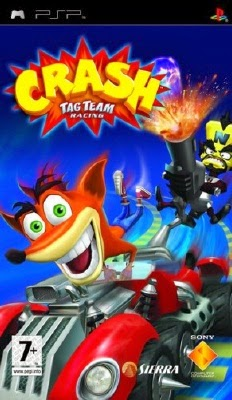 Crash tag team racing for sony psp the video games museum.
