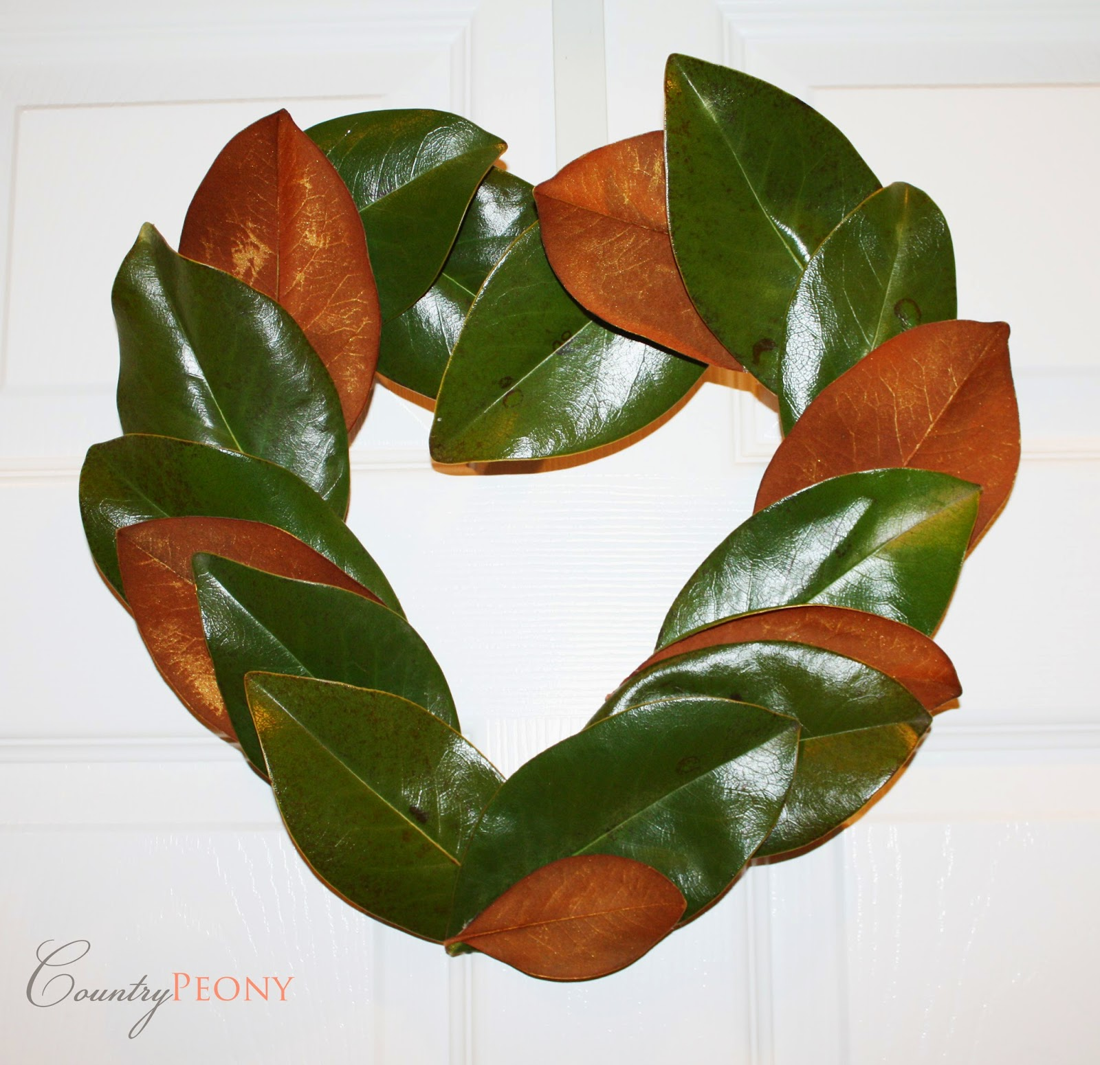 DIY Gold Magnolia Leaf Wreath