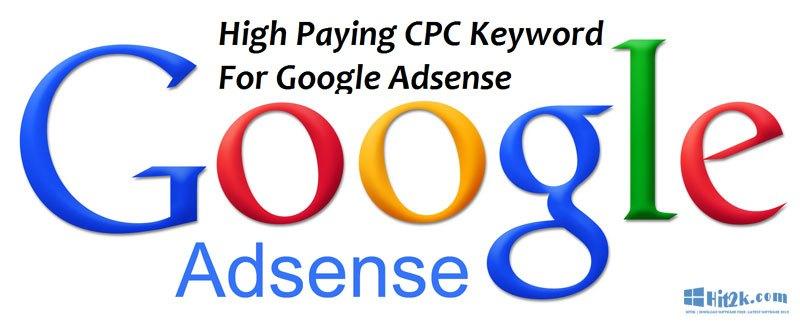 Google Adsense high paying Keywords in 2016