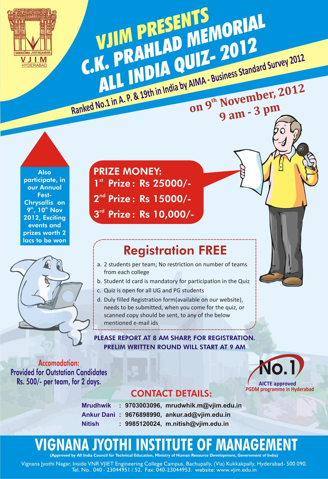 MTC Global] FW: ALL INDIA QUIZ COMPETITION- VJIM | College