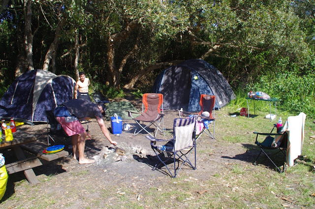 Camping at Delicate Nobbys NSW