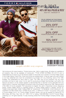 Tommy Hilfiger coupons march
