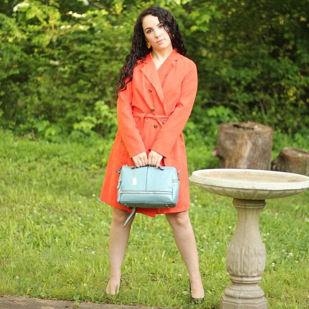 Popjulia Blue Handbag