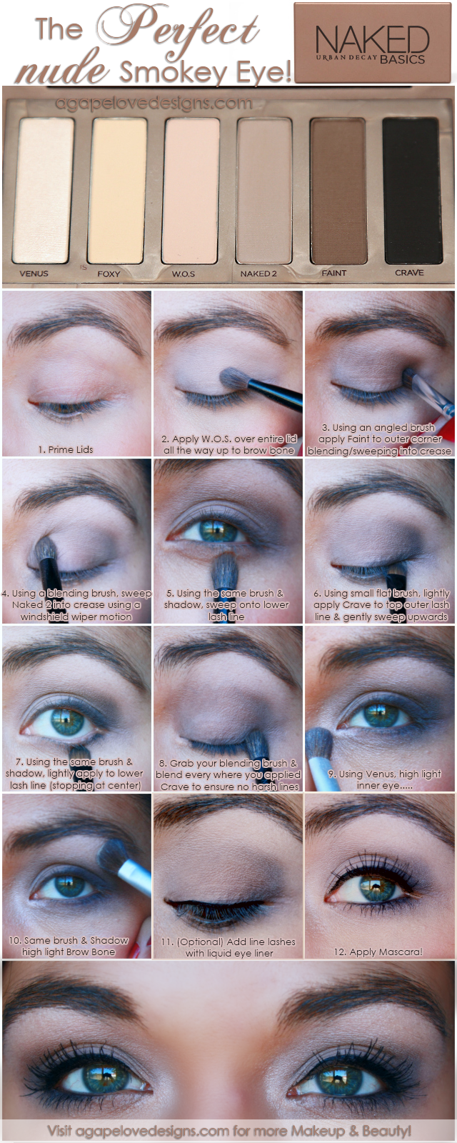 Agape Love Designs: The Perfect Nude Smokey Eye