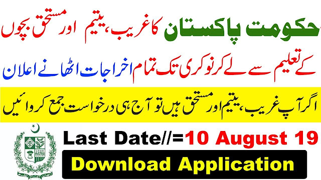 Government of Pakistan Support Programme 2019 Download Application Form