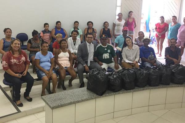 Em São José da Tapera, transações penais permitem a entrega de cestas básicas para 22 famílias carentes