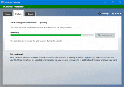Microsoft security essentials 4 latest version 32 for Window defender update