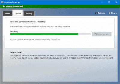 Microsoft security essentials 4 latest version 32 for Window defender update