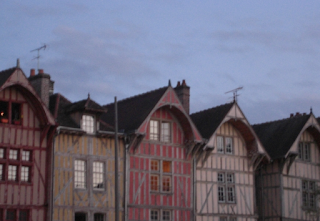 Beamed Buildings in Troyes - Champagne Region
