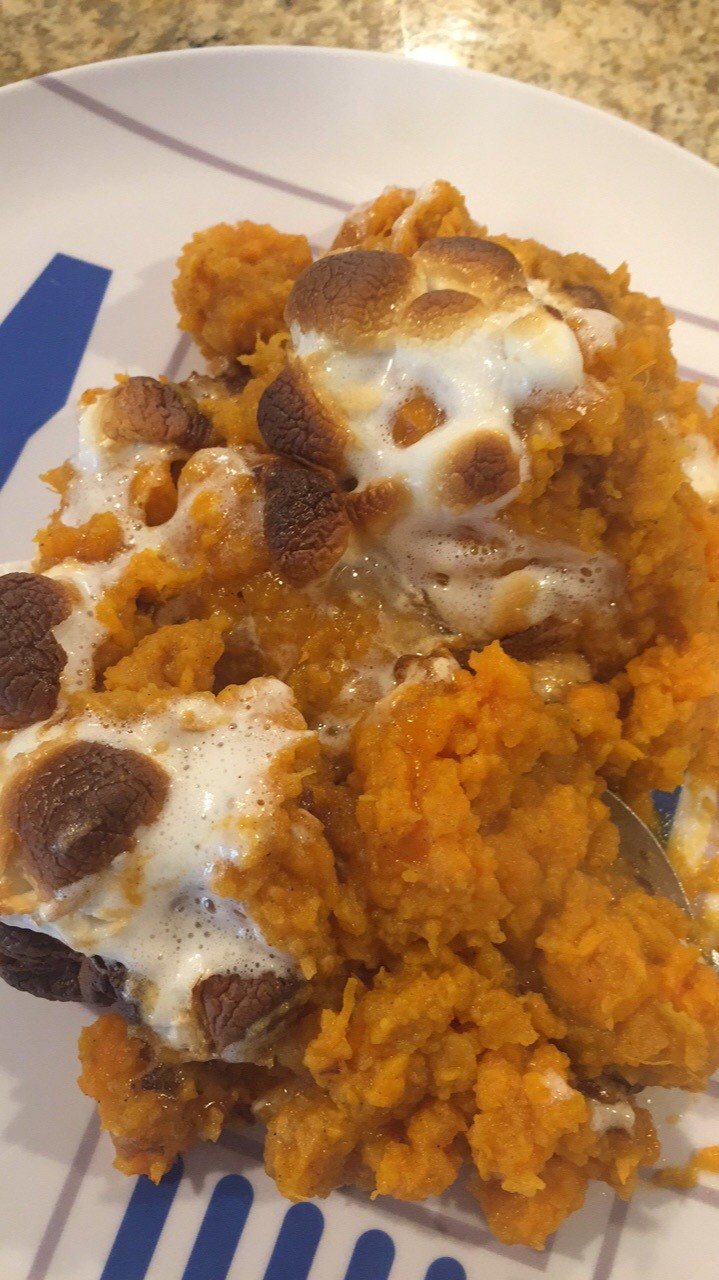 Ms oshiros class instant pot cooking mashed sweet potatoes this meal was by far the most exciting and fun recipe i have cooked in the book my favorite part about it was mashing the sweet potatoes forumfinder Images