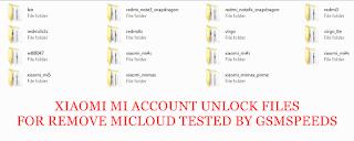 DOWNLOAD XIAOMI MI ACCOUNT FILES FOR REMOVE MICLOUD
