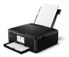 Equipped printer is equipped amongst a compact wireless as well as mobile cloud Canon PIXMA TS8070 Printer Driver Download
