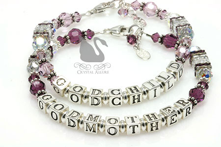 Celebrate Your Special Bond: Godmother-Godchild Matching Beaded Crystal Bracelets