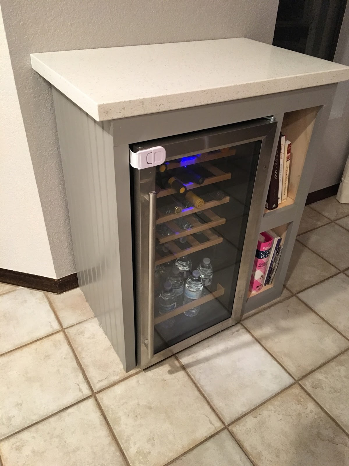 Reimagined Custom Wine Fridge Cabinet Diy