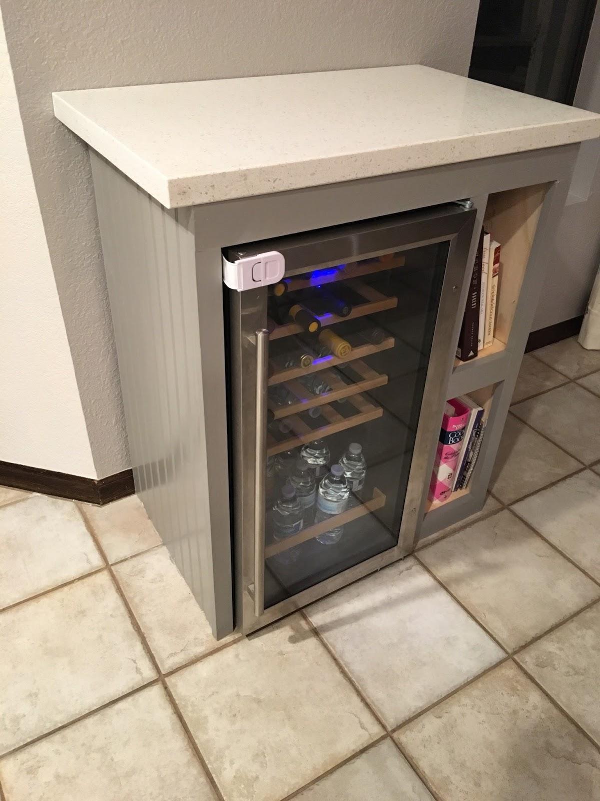 Reimagined: Custom Wine Fridge Cabinet DIY