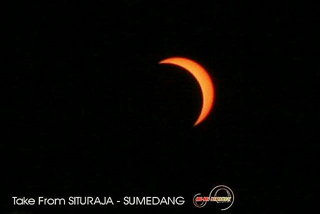 Salah Satu Gambar Penampakan Gerhana Matahari di Sumedang