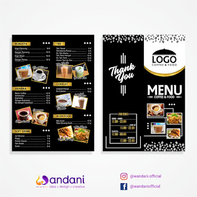 Free and Premium coffee and Food menu Template