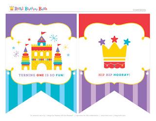 Kit para Fiesta de Primer Año de la Realeza Fisher Price para Imprimir Gratis.