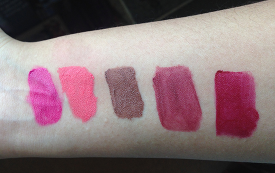 NYX Soft Matte Lip Creams swatches