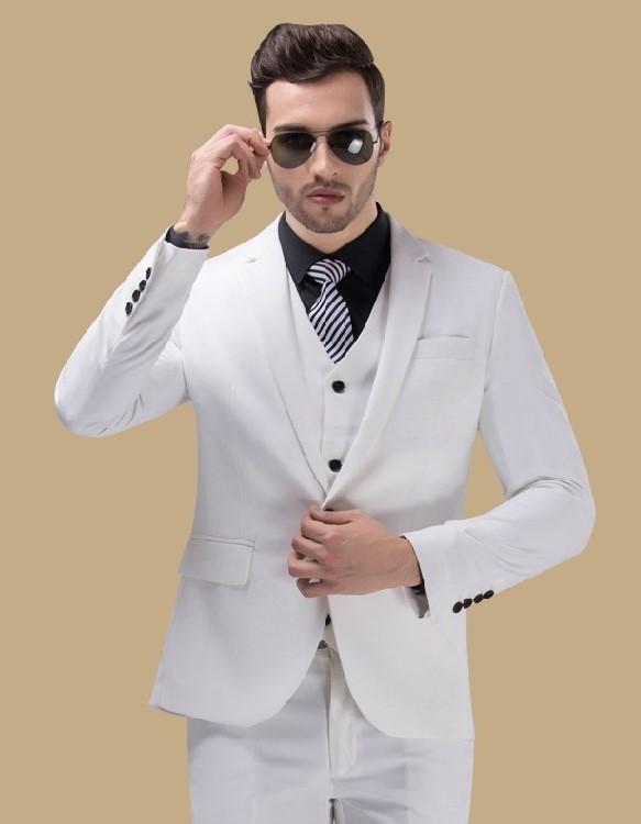 10 Model Desain Baju Jas Pengantin Pria Terkini Warna Putih