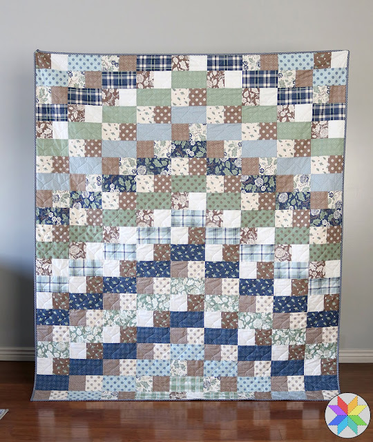 Builder Quilt made by Andy of A Bright Corner using Harvest Road fabrics