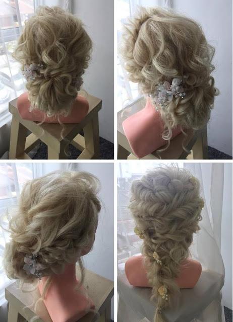 cascading hair