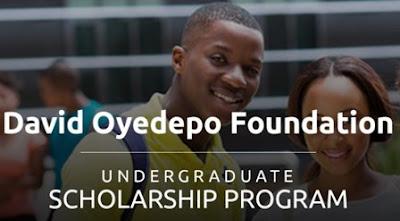 David Oyedepo Foundation (DOF) Undergraduate Scholarship 2018 For Young Africans