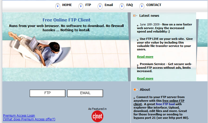 what you in NEED?: list of ONLINE ftp clients ( AT A GLANCE )