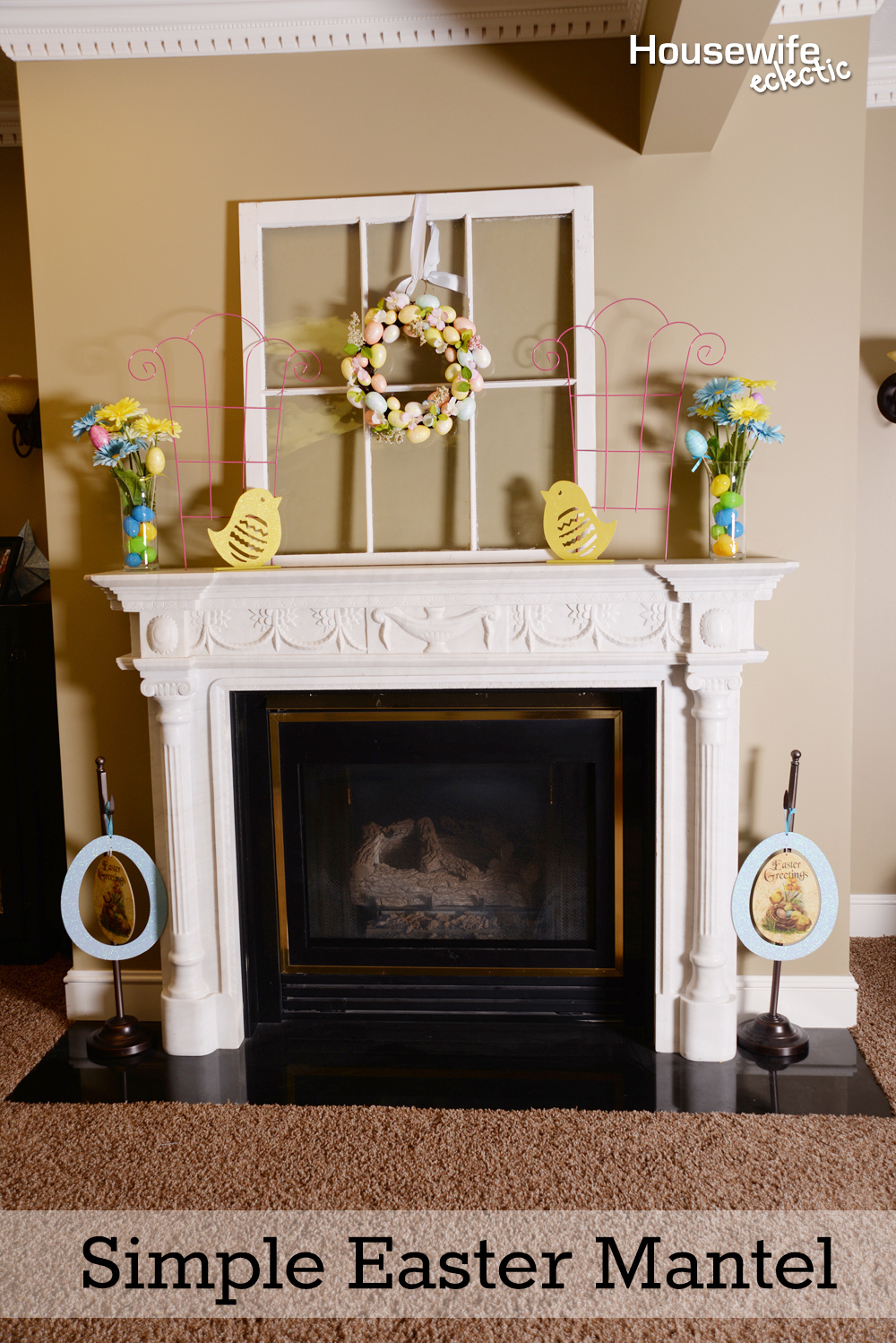 Simple Easter Mantel Housewife Eclectic