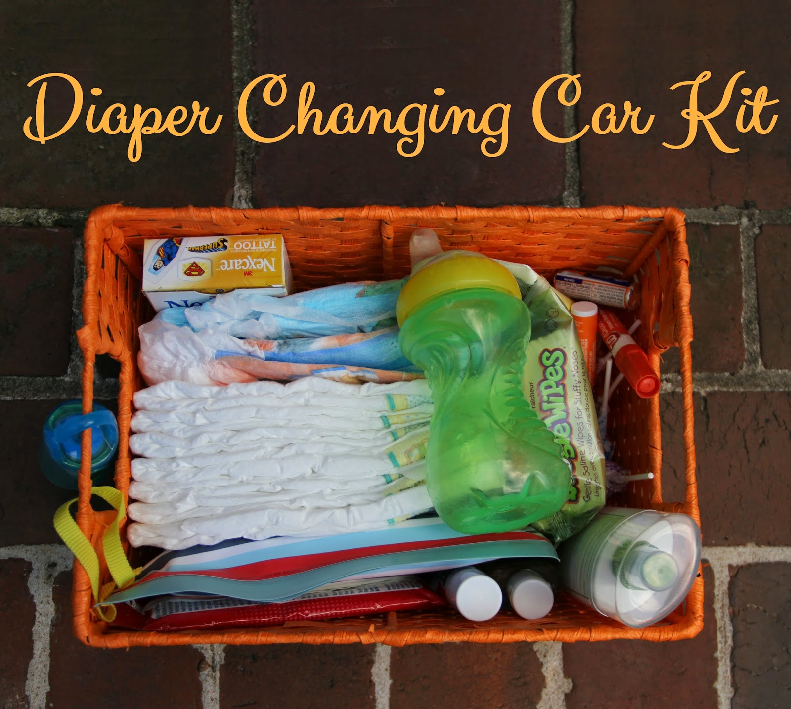 Running From The Law Diy Diaper Changing Car Kit