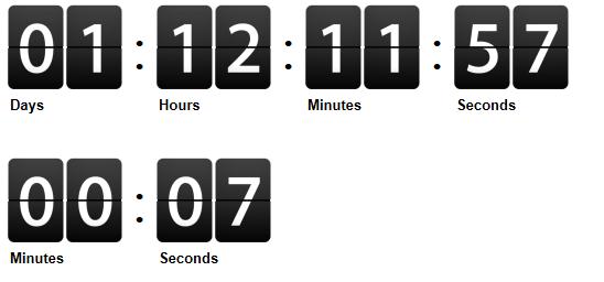 jQuery Countdown Timer Script Example in Asp net - ASP NET,C# NET,VB