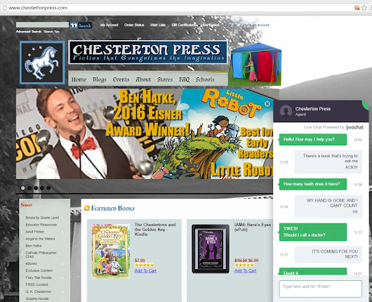 We now have live chat on Chesterton Press!